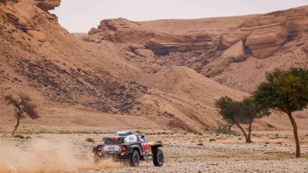 Carlos Sainz en la etapa 5 del Rally Dakar 2021