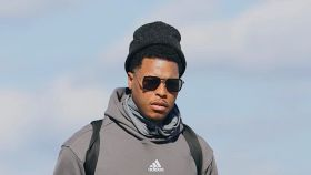 Kyle Lowry con el chandal del Real Madrid