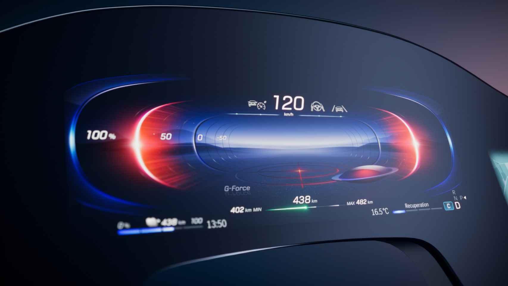 Imagen de la pantalla principal del próximo Mercedes EQS.