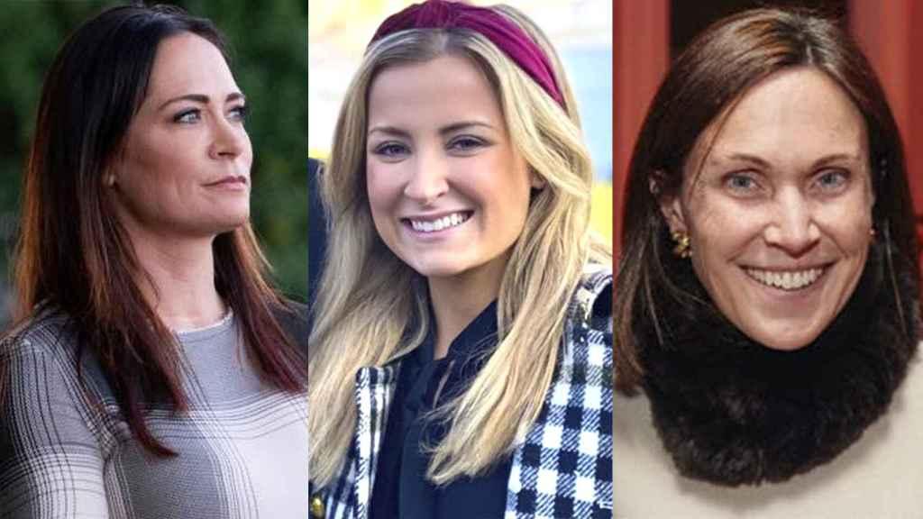 Stephanie Grisham, Sarah Matthews y Anna Cristina Niceta Lloyd.