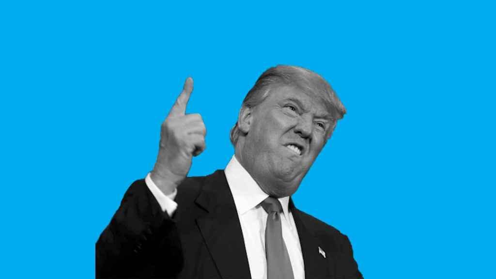 Fotomontaje con la cara del presidente saliente de los Estados Unidos.