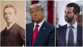 A la izquierda, Frederick Trump, el abuelo; en medio, Donald Trump y; a la derecha, Donald Trump Jr., el hijo.