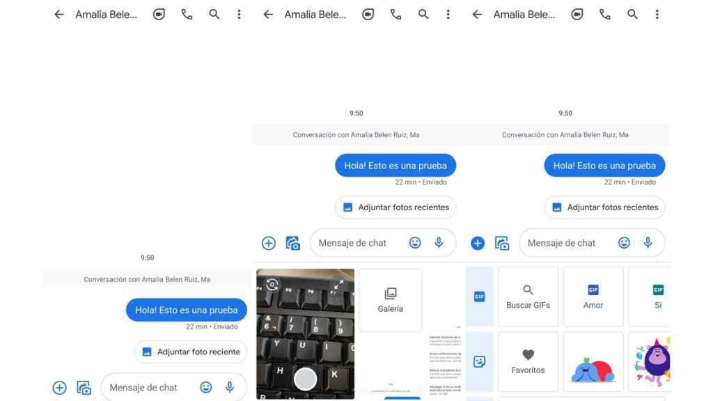 Aplicación Mensajes de Google en Android