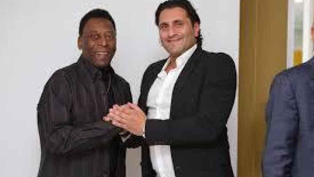 Pelé y Morris Pagniello