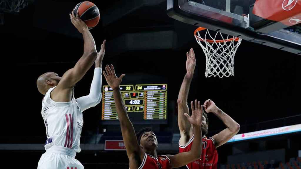 Alex Tyus, en su estreno como jugador del Real Madrid de Baloncesto