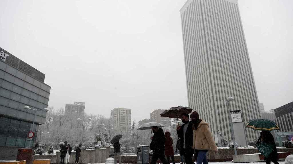 Nieve en Madrid.