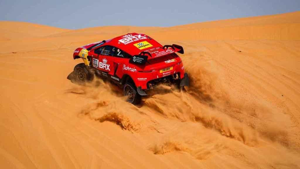 Nani Roma en la etapa 6 del Rally Dakar 2021