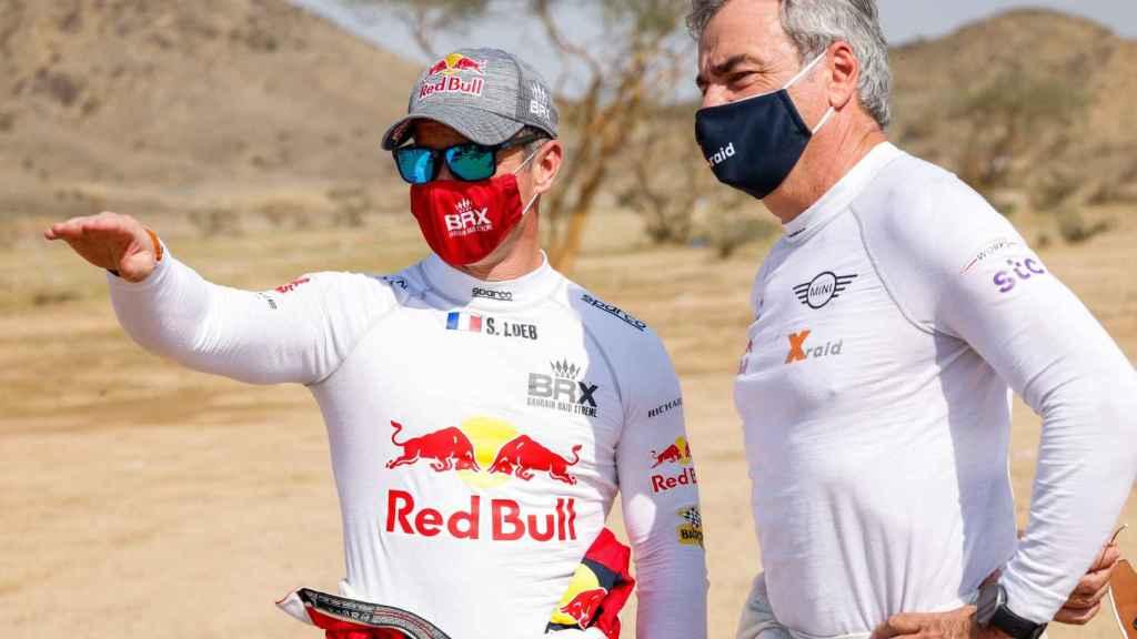 Loeb y Sainz comentan una etapa del Rally Dakar 2021