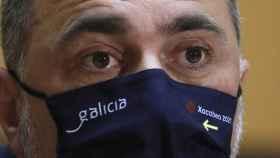 El consejero de Sanidad de la Xunta de Galicia, Julio García Comesaña, durante una rueda de prensa posterior a la reunión del subcomité clínico.