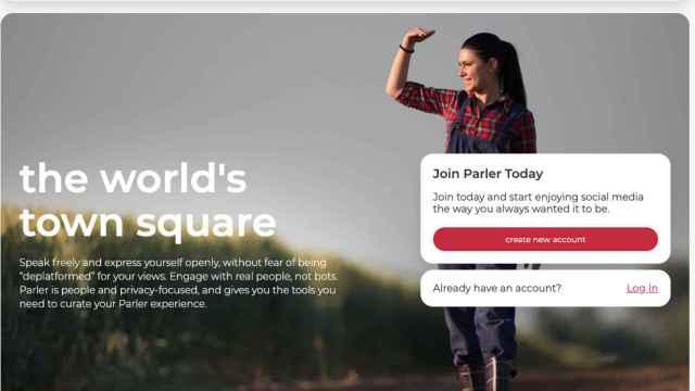 Portada de Parler, la red social utilizada por los republicanos en Estados Unidos