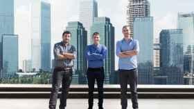 Pini Pinhasov, VP de producto de Medigate; Jonathan Langer, CEO de la empresa, e Itay Kirshenbaum, VP de I+D.