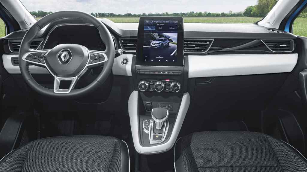 Interior del Renault Captur e-Tech.