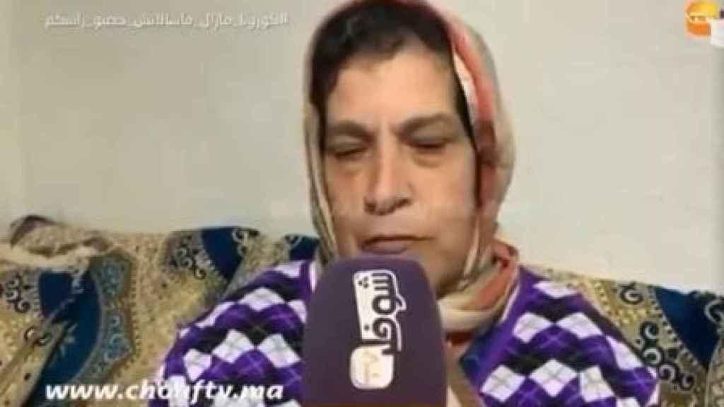 Imagen de la madre de Hanane, que ha defendido el honor de su hija.