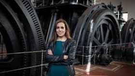 Silvia Roldán, la primera jefa del Metro de Madrid, en la Nave de Motores.