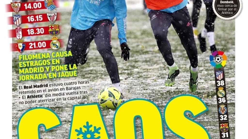 La portada del diario MARCA (09/01/2021)