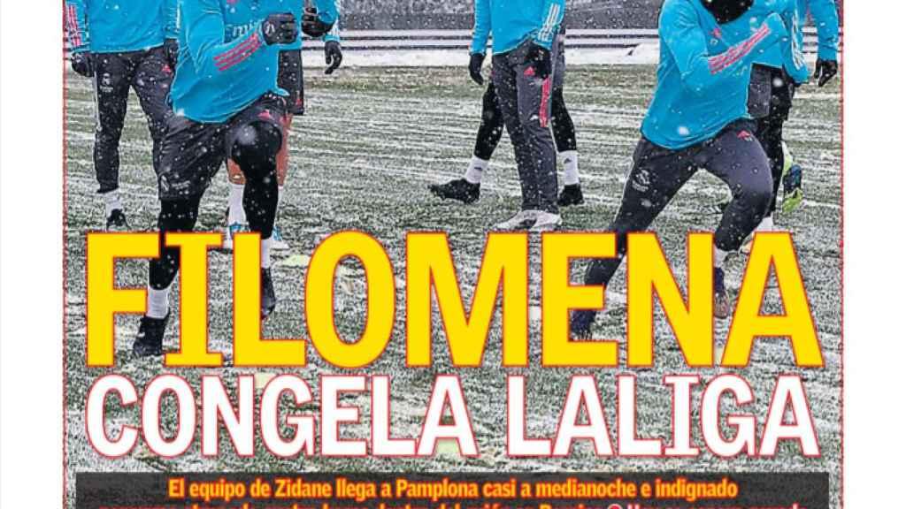 La portada del diario AS (09/01/2021)