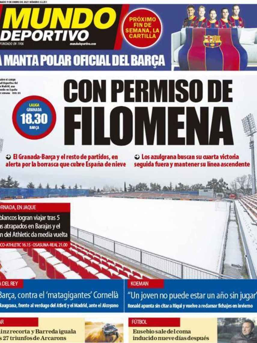 La portada del diario Mundo Deportivo (09/01/2021)