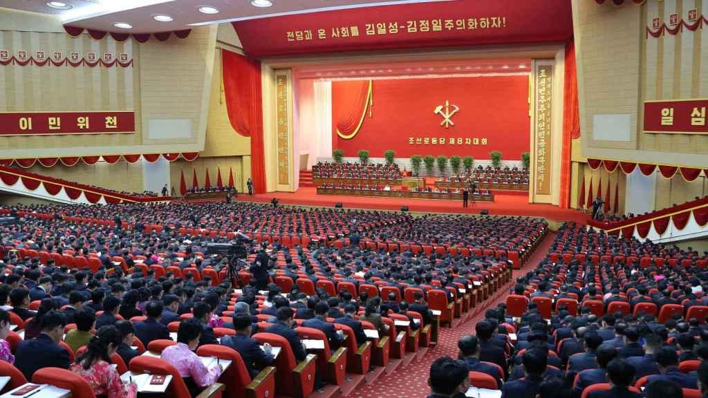 Octavo congreso del Partido de los Trabajadores en Pyongyang.