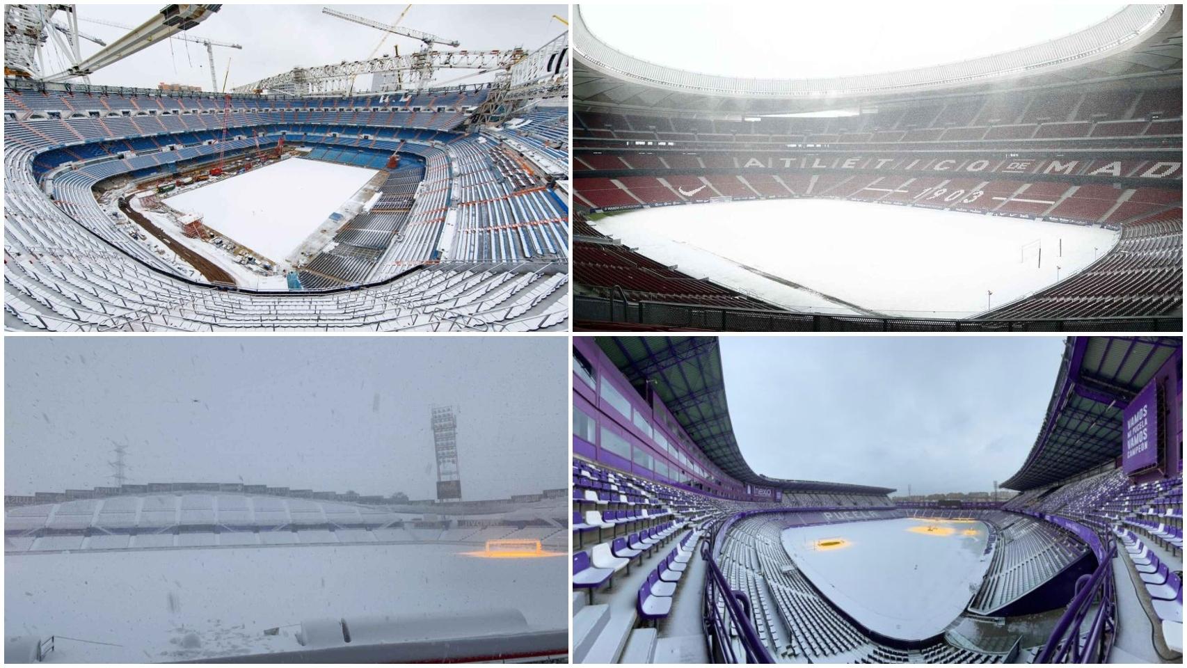 Filomena congela los estadios del fútbol español