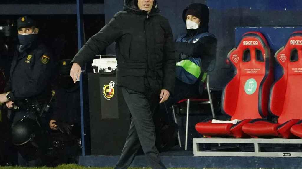 Zinedine Zidane, durante el partido frente a Osasuna