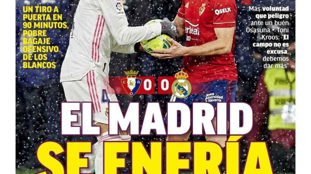 La portada del diario MARCA (10/01/2021)