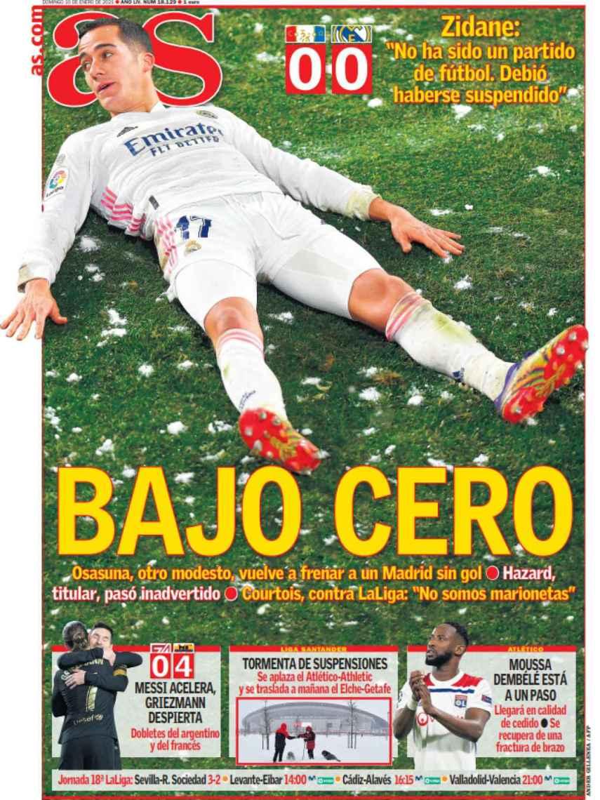 La portada del diario AS (10/01/2021)