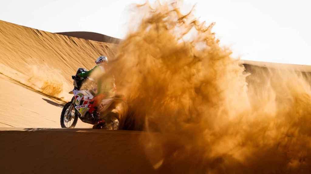 Pierre Cherpin en una etapa del Rally Dakar 2021