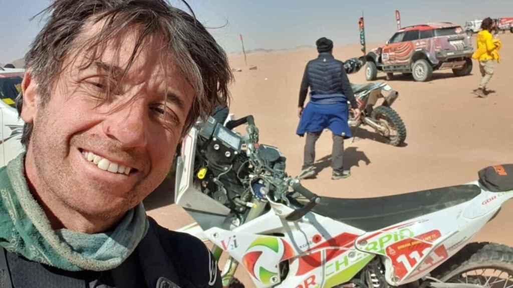 Pierre Cherpin durante el Rally Dakar