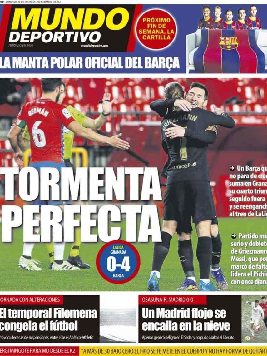 La portada del diario Mundo Deportivo (10/01/2021)
