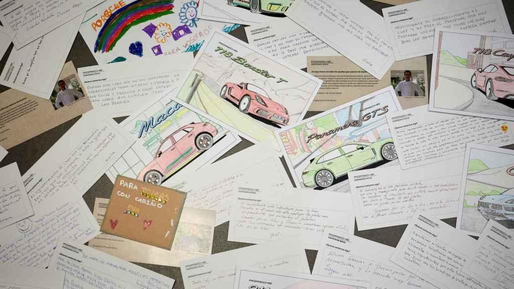 Escritos de agradecimiento a Porsche.