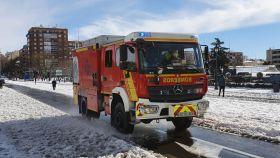 Imagen de los servicios de emergencia ante el temporal Filomena a su paso por Madrid.