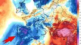 Ola de frío histórica en España. Tropical-tidbits.
