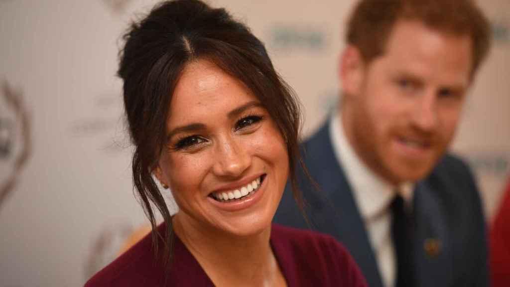 Meghan y Harry en una reunión en Inglaterra en 2019.