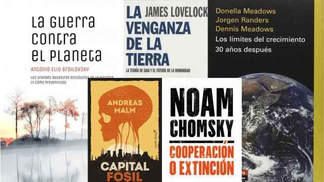 Cinco libros sobre el cambio climático.