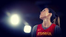 Anna Cruz con la camiseta de la selección española