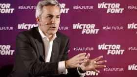 Victor Font, durante un acto de la campaña a la presidencia del Barça