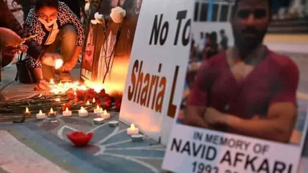 Protestas contra la ejecución de Navid Afkarí