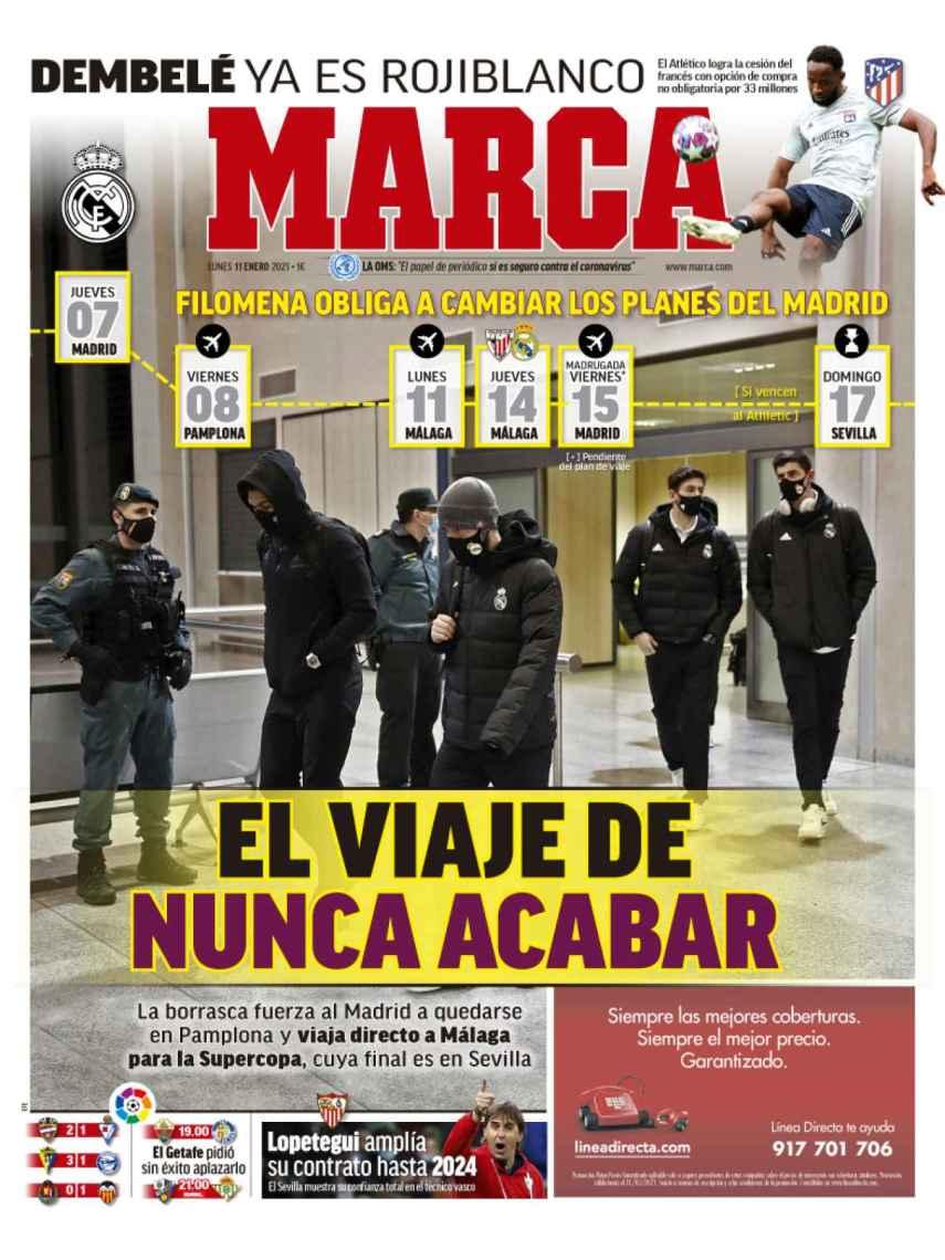 La portada del diario MARCA (11/01/2021)