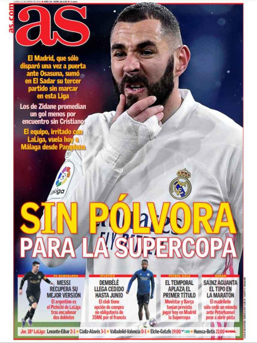 La porta del diario AS (11/01/2021)