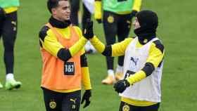 Reinier Jesús y Jaume Mateu, en el Borussia Dortmund. Foto: Instagram (reinier.jesus)