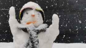Muñeco de nieve. Imagen de este fin de semana en Castilla-La Mancha