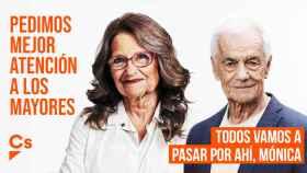 Mónica Oltra y Toni Cantó, envejecidos en la campaña de Ciudadanos. EE