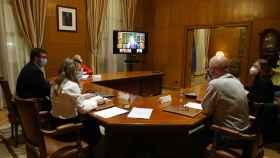 Reunión entre representantes de patronal y sindicatos y  el Ministerio de Trabajo.