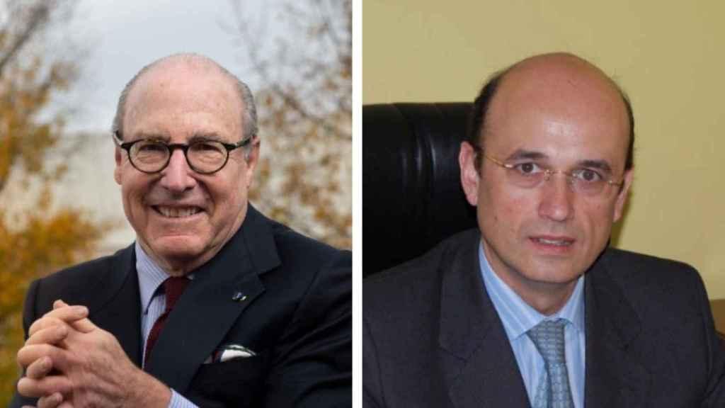 El presidente del Círculo de Empresarios, John de Zulueta (derecha) y el candidato a la presidencia del Círculo de Empresarios Manuel Pérez-Sala Gozalo (izquierda).