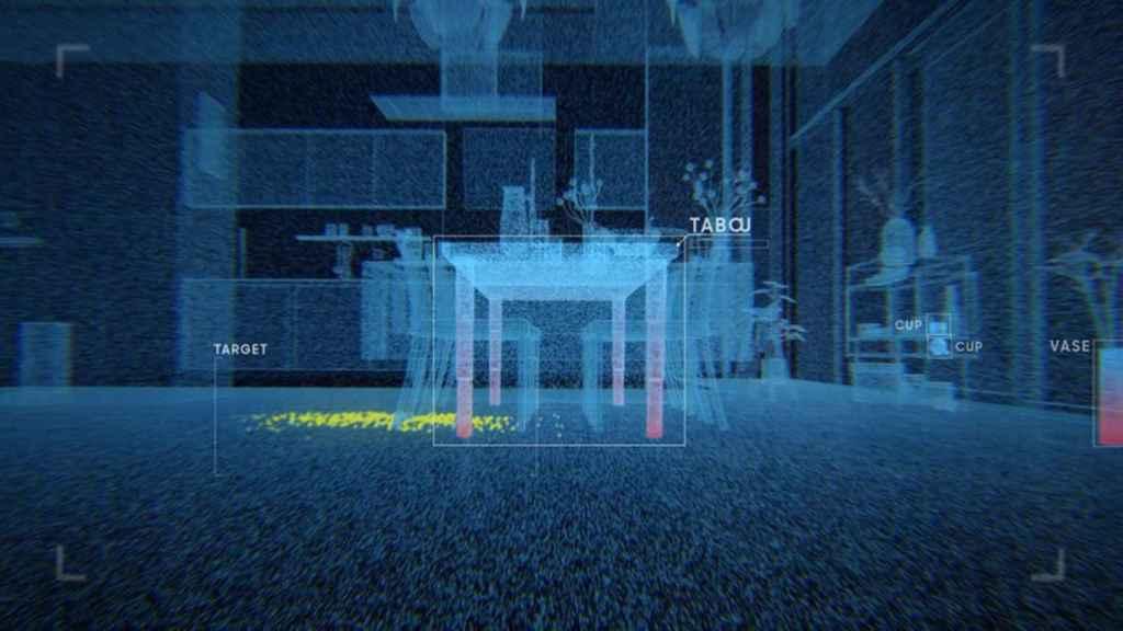 Representación de lo que el robot aspirador de Samsung es capaz de 'ver'