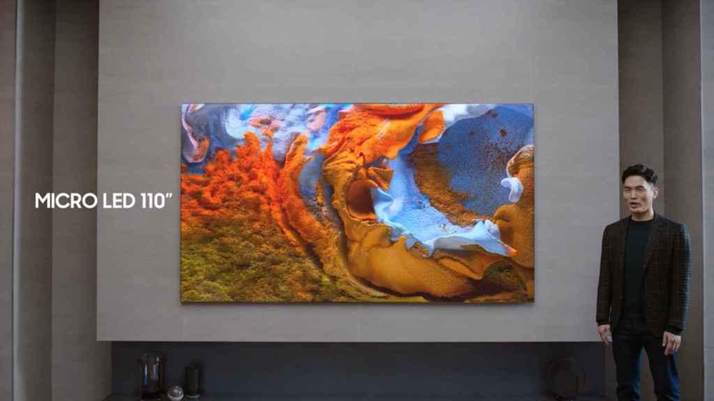 Samsung ha presentado su pantalla micro LED de 110 pulgadas.