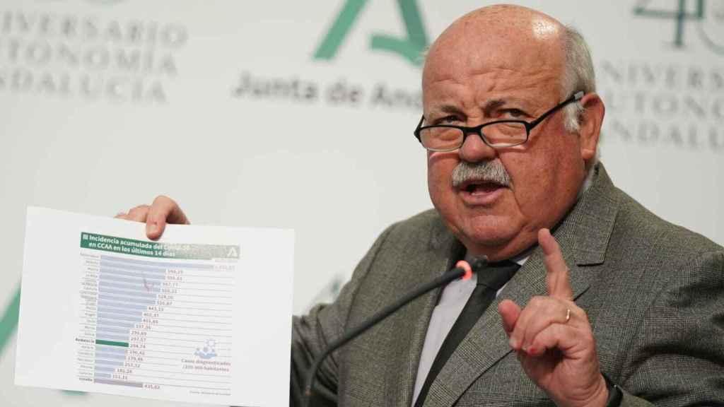 El consejero de Salud y Familias, Jesús Aguirre.