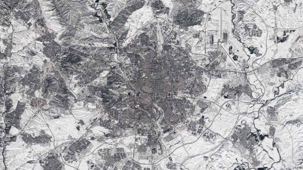 Fotografía de Madrid tomada por el satélite Sentinel-2 de la Agencia Europea del Espacio (ESA).
