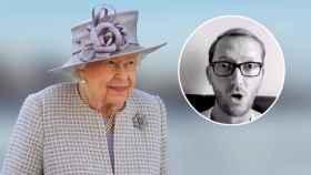 La reina Isabel, junto a una imagen de Adamo Canto, en un fotomontaje de JALEOS.
