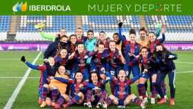 Las jugadoras del Levante Femenino celebran la victoria ante el EDF Logroño en la Supercopa de España